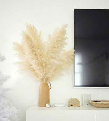 Decorated with pampas grass flower